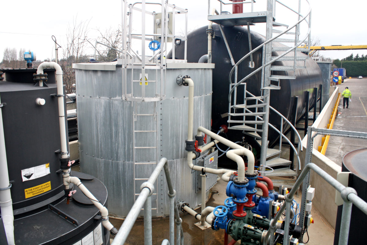 Trade effluent treatment plant